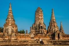 Висок Ayutthaya Бангкок Таиланд Wat Chai Watthanaram Стоковые Изображения