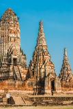 Висок Ayutthaya Бангкок Таиланд Wat Chai Watthanaram Стоковое Фото