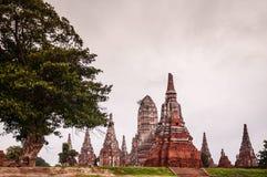 Висок Ayutthaya Wat Chai Wattanaram стоковое фото rf