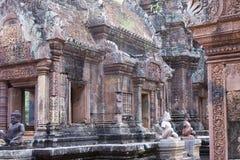 Висок Banteay Srey губит столетие Xth, Siem Reap, Камбоджу стоковое изображение rf