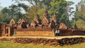 Висок BanteaySrei, виски Angkor, Камбоджи стоковые изображения rf