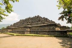Висок Borobudur в дневном свете утра, около Yogyakarta на Jav Стоковые Фотографии RF