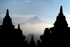 Висок Borobudur в Magelang Индонезии Стоковые Фотографии RF