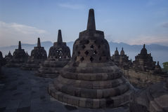 Висок Borobudur, центральная Ява Стоковые Изображения