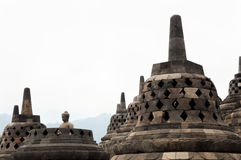 Висок Borobudur - Jogjakarta - Индонезия Стоковая Фотография