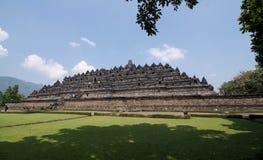 Висок Borobudur pyramidal основание с концентрическим квадратом 5 Стоковые Изображения RF