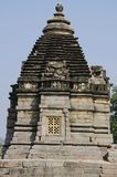 ВИСОК BRAHMA, фасад - юговосточный взгляд, восточная группа, Khajuraho, Madhya Pradesh, место всемирного наследия ЮНЕСКО стоковая фотография