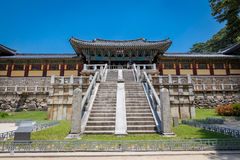 Висок Bulguksa в Кёнджу, Южной Корее - путешествуйте des Стоковая Фотография RF