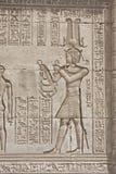 висок carvings египетский hieroglypic стоковые изображения rf