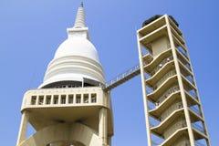 Висок chaithya Sambodhi буддийский в Коломбо, Шри-Ланке Стоковые Изображения RF