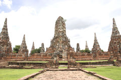Висок Chaiwatthan на Ayutthaya Стоковая Фотография
