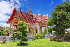Висок Chalong, Пхукет, Таиланд Стоковая Фотография RF