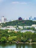 Висок Cheng Huang на холме Wushan стоковая фотография