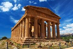 Висок Concordia в парке Агриджента археологическом Сицилия Стоковые Изображения RF