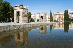 Висок de Debod, Мадрид, Испания Стоковая Фотография