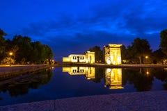 Висок de debod Мадрид Стоковое Изображение
