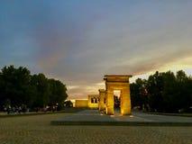 Висок Debod в Мадриде Испании стоковое фото