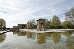 Висок Debod (Мадрида, Испании) Стоковые Фото