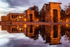 Висок Debod, Мадрида Стоковое Изображение