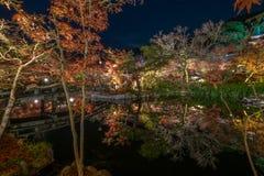 Висок Eikando на ноче Стоковые Фото