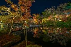 Висок Eikando на ноче Стоковое Фото
