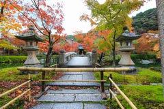 Висок Eikando (Zenrin-ji) в осени Стоковые Изображения