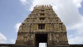 Висок Gopuram Belur или строб Стоковые Фотографии RF
