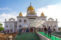 Висок Gurdwara Bangla Sahib в Дели Стоковое Изображение