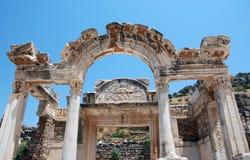 Висок Hadrian, Ephesus, Турция, Стоковая Фотография RF