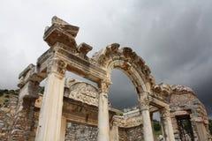Висок Hadrian, Ephesus (Efes), Турции Стоковая Фотография