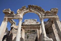 Висок Hadrian, Ephesus, Izmir, Турция Стоковое Изображение RF
