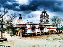 Висок hanuman над горой Стоковое Изображение RF