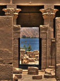 Висок Hathor на острове Agilkia Стоковые Изображения RF