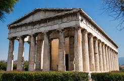 Висок Hephaestus в Афинах/Греции Стоковая Фотография