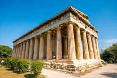 Висок Hephaistos в агоре около акрополя Стоковое Изображение RF