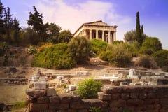 Висок Hephaistos в Афинах, Греции Стоковое Изображение