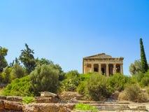 Висок Hephaistos около акрополя в Афинах стоковая фотография