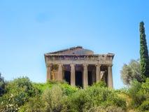 Висок Hephaistos около акрополя в Афинах стоковые фото
