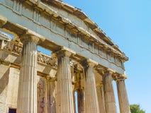 Висок Hephaistos около акрополя в Афинах стоковые изображения
