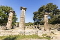 Висок Hera, Олимпия, Греция стоковые изображения rf