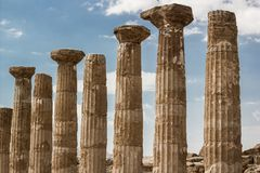 Висок Heracles, Агриджента, Сицилии Стоковое Изображение