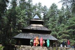 Висок Hidemba Mata, Manali, Himachal Стоковая Фотография