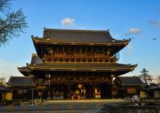 Висок Higashi-Honganji в Киото, Японии стоковое фото rf