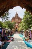 Висок Htilominlo в Bagan, Мьянме Стоковые Фотографии RF