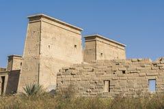 Висок Isis от Philae, Асуана, Египта стоковое изображение