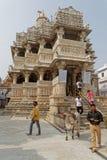 Висок Jagdish в центре города Udaipur стоковое фото