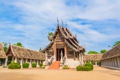 Висок Kain тонны Wat старый сделанный от древесины в Чиангмае Таиланде Стоковое Изображение RF