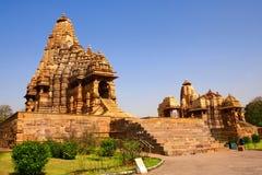 Висок Kandariya Mahadeva, Khajuraho, Madya Pradesh, Индия Стоковые Фото