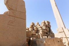 Висок Karnak - большинств огромный висок на Египте Стоковые Изображения RF