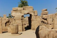 Висок Karnak - большинств огромный висок на Египте Стоковое фото RF